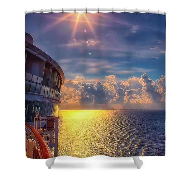 Natures Beauty At Sea Shower Curtain