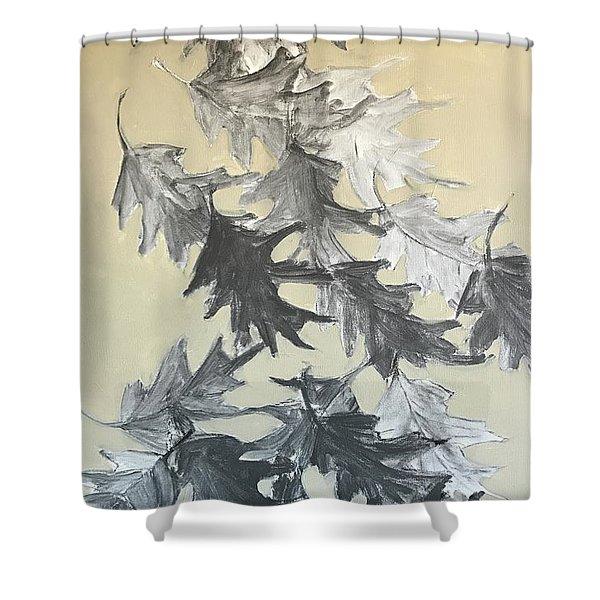 Natures Fallen Trash Shower Curtain