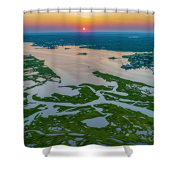 Natures Hidden Lines Shower Curtain