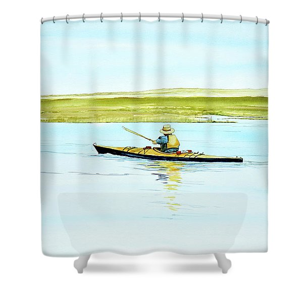 Nauset Kayaker Shower Curtain