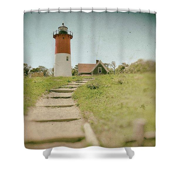 Nauset Lighthouse Shower Curtain