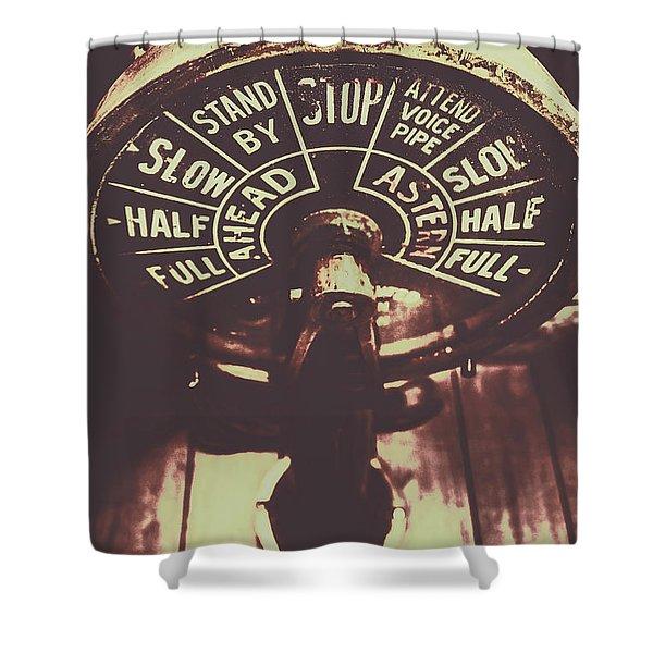 Nautical Engine Room Telegraph Shower Curtain