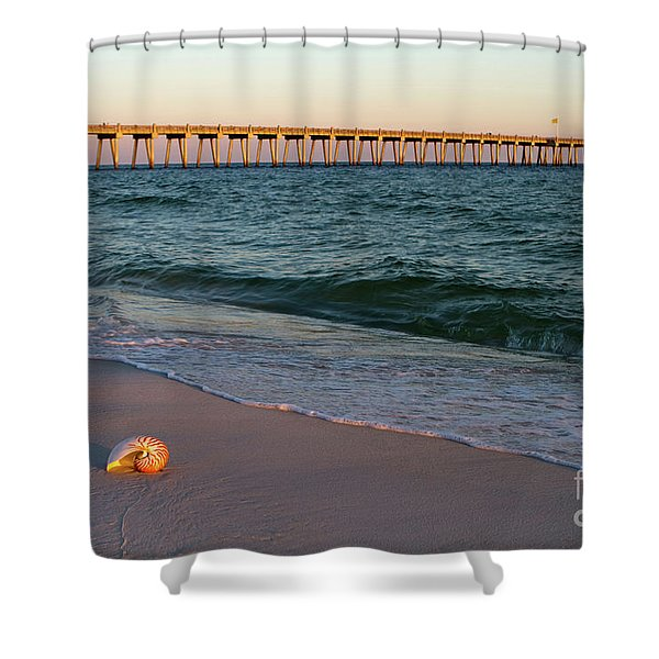 Nautilus And Pier Shower Curtain