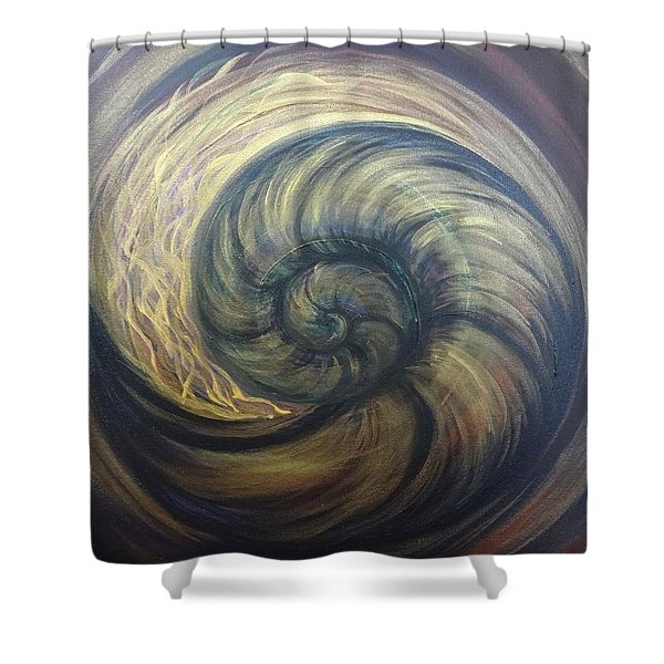 Nautilus Spiral Shower Curtain