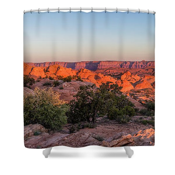 Navajo Land Morning Splendor Shower Curtain