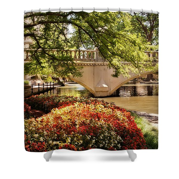 Navarro Street Bridge Shower Curtain
