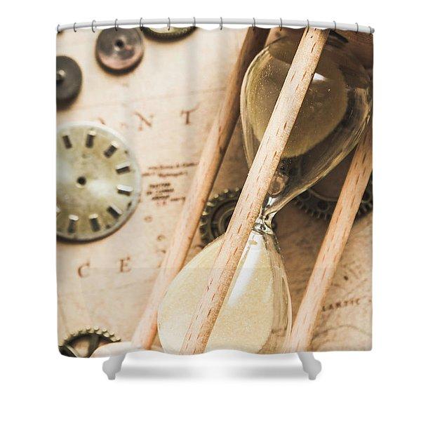 Navigating Vintage Time Shower Curtain