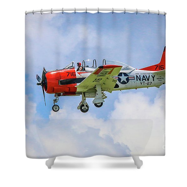 Shower Curtain featuring the photograph Navy Trainer #2 by Tom Claud