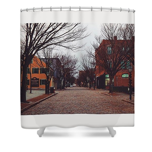A Christmas Morning Downtown  Shower Curtain
