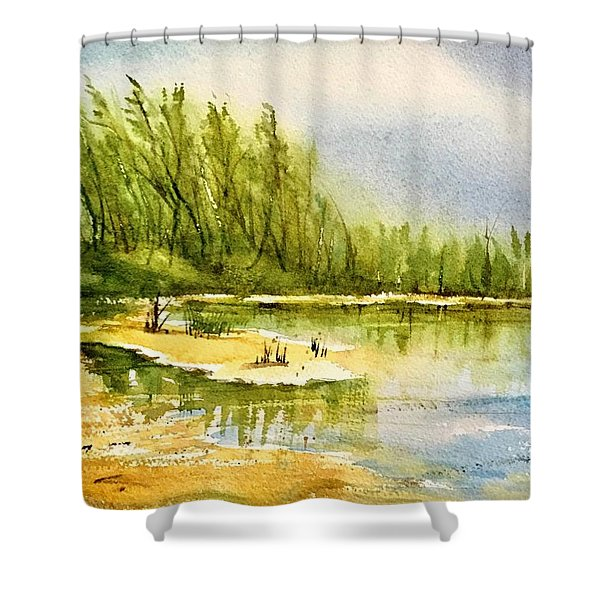 Near The Lake 4 Shower Curtain