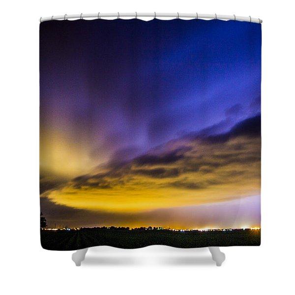 Nebraska Night Beast 021 Shower Curtain