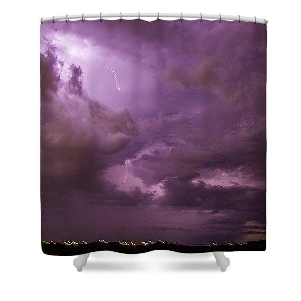 Nebraska Night Thunderstorm Beast 001 Shower Curtain
