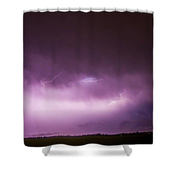 Shower Curtain featuring the photograph Nebraska Night Thunderstorms 013 by NebraskaSC