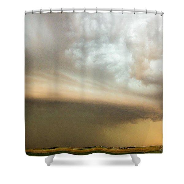 Nebraska Thunderstorm Eye Candy 005 Shower Curtain
