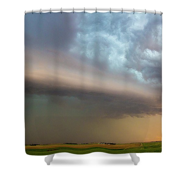 Nebraska Thunderstorm Eye Candy 006 Shower Curtain