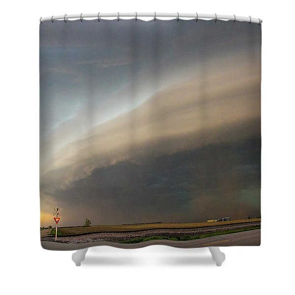 Nebraska Thunderstorm Eye Candy 026 Shower Curtain