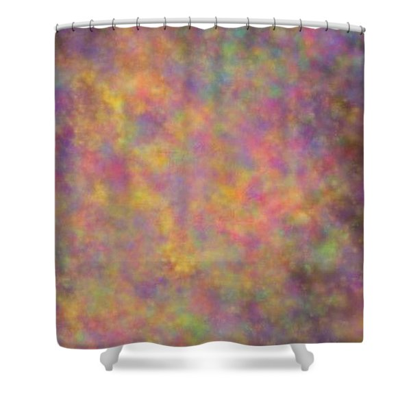Shower Curtain featuring the mixed media Nebula by Writermore Arts