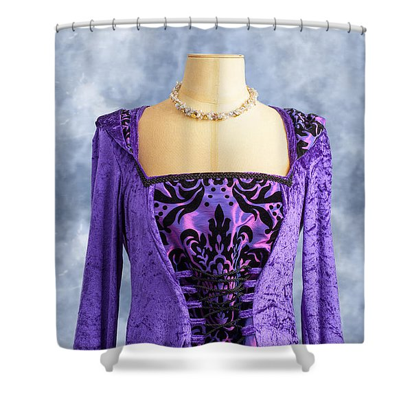 Necklace And Dress Shower Curtain
