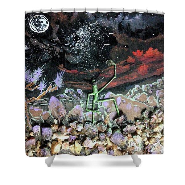 Haystack Needle Shower Curtain