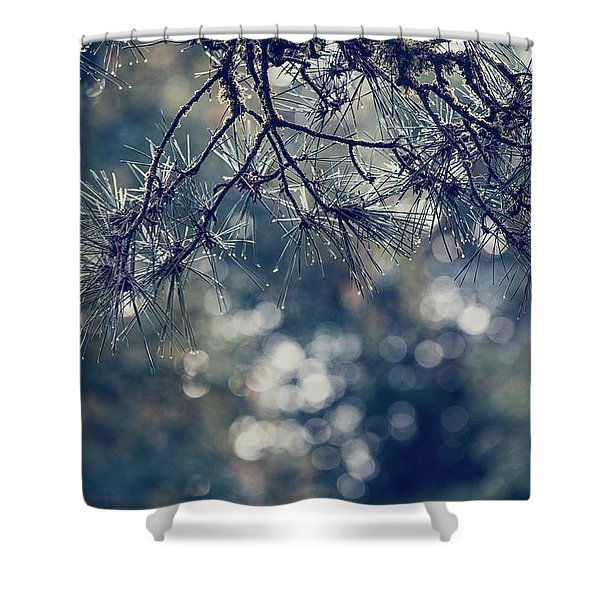 Needles N Droplets Shower Curtain