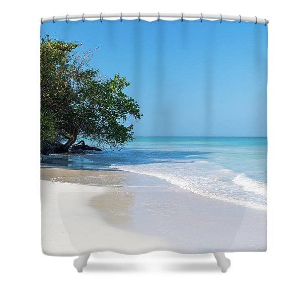 Negril Beach Morning Shower Curtain