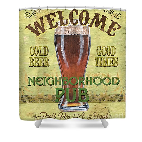 Neighborhood Pub Shower Curtain