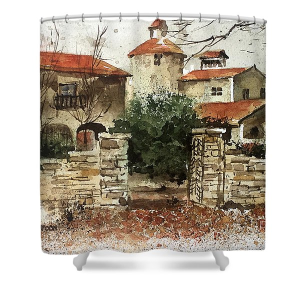 Neighbors Gate Shower Curtain