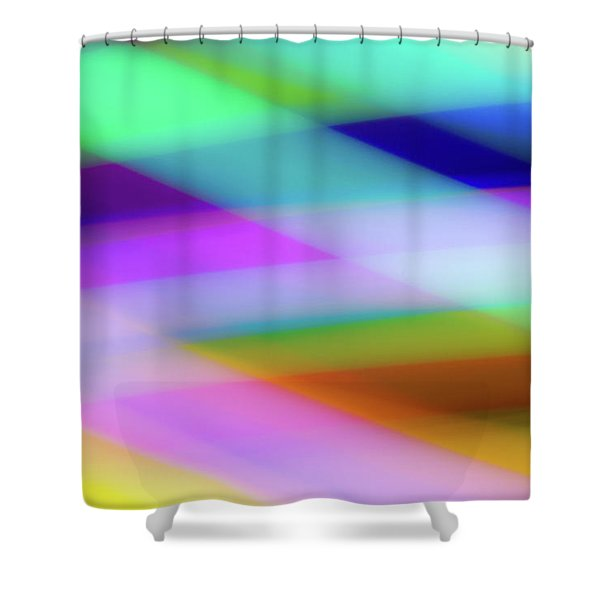 Neon Crossing Shower Curtain