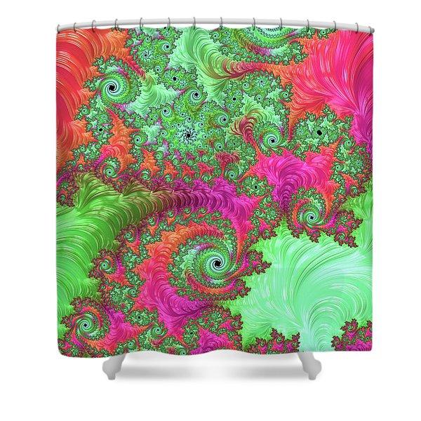 Neon Dream Shower Curtain