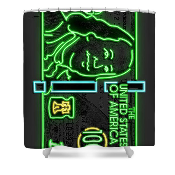Neon Franks Shower Curtain