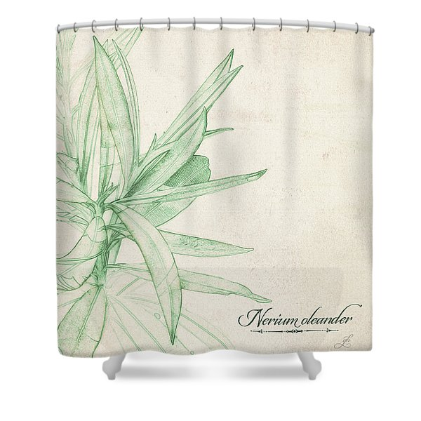 Nerium Oleander Shower Curtain
