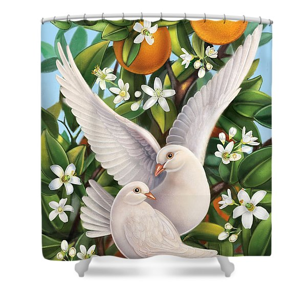 Neroli - Harmonious Partnership Shower Curtain
