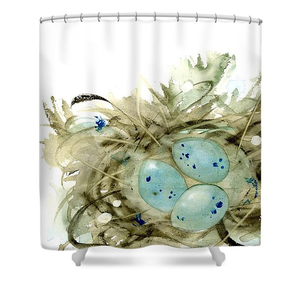 Nest And 3 Eggs Shower Curtain
