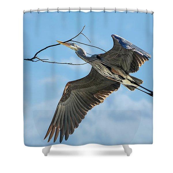 Nest Builder Shower Curtain