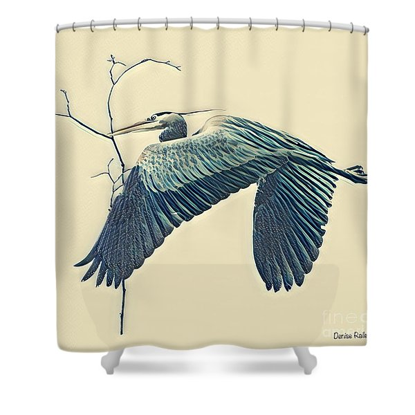 Nesting Heron Shower Curtain