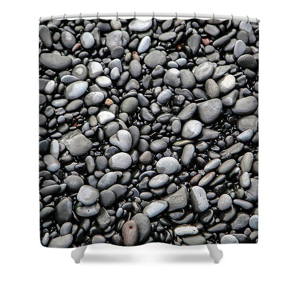 Nestled Beach Stones By The Hundreds Shower Curtain