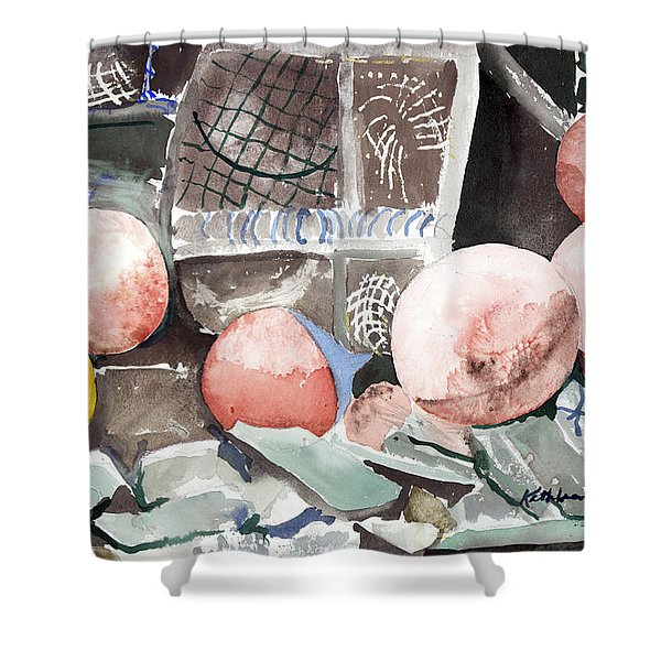 Nets And Floats Shower Curtain