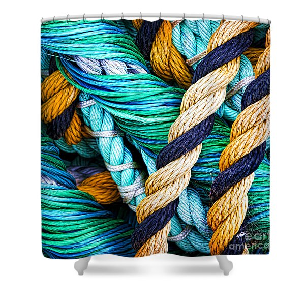 Nets And Knots Number Five Shower Curtain
