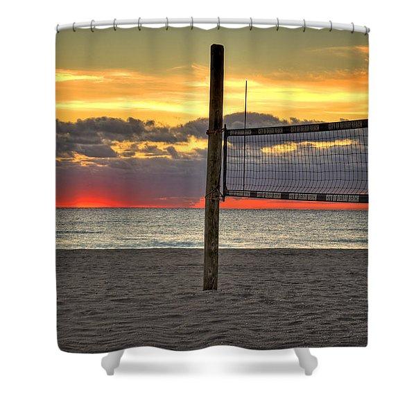 Netting The Sunrise Shower Curtain