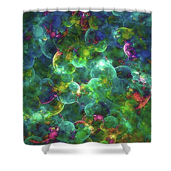 Neurons Abstract Shower Curtain