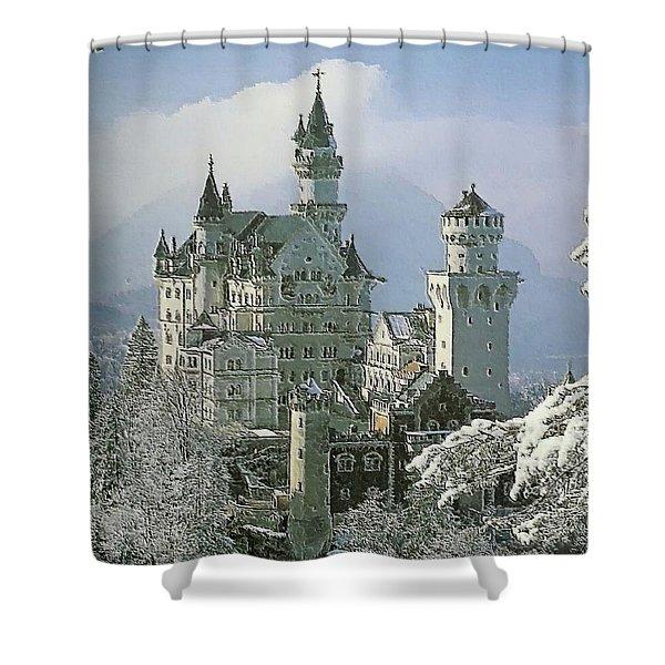 Neuschwanstein  Shower Curtain