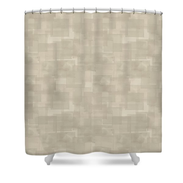 Neutral Brown Abstract Pattern Shower Curtain