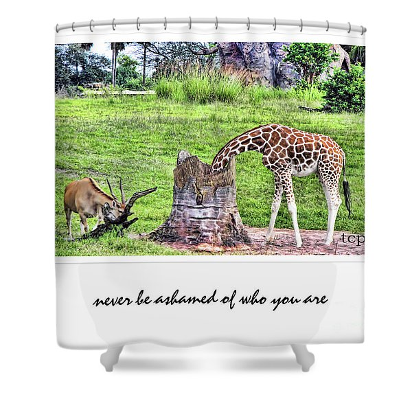 Never Be Ashamed Shower Curtain