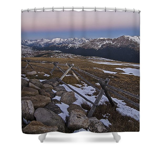 Never Summer Range Shower Curtain