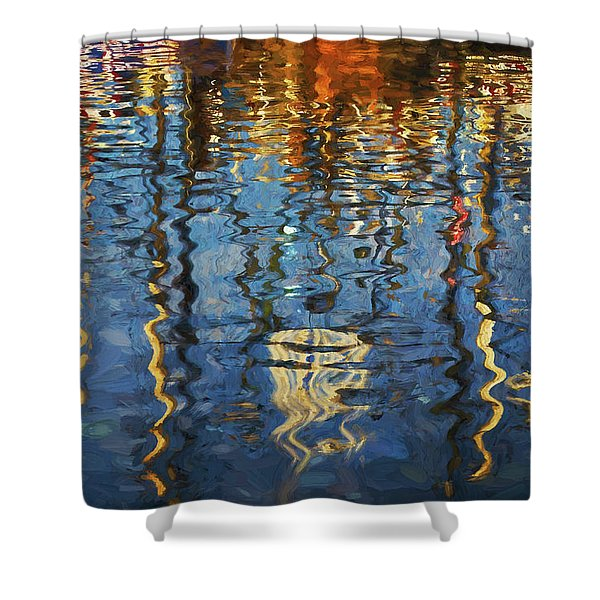 New Bedford Waterfront No. 5 Shower Curtain