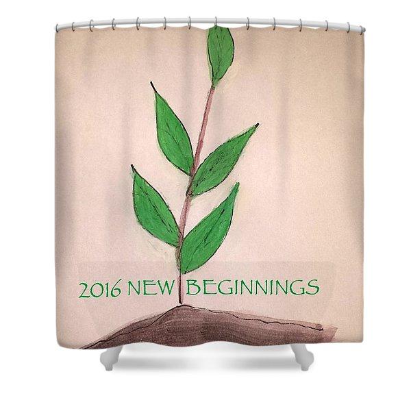 New Beginnings 2016 Shower Curtain