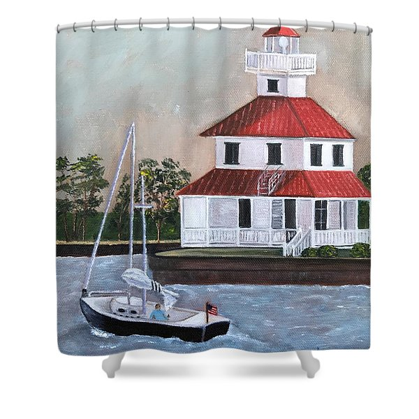 New Canal Lighthouse Shower Curtain