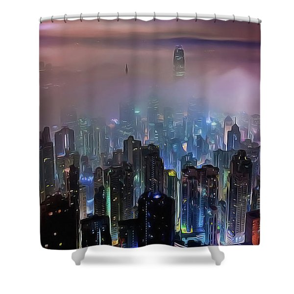 New City Skyline Shower Curtain