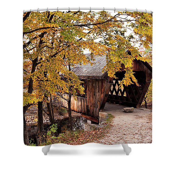 New England College No. 63 Covered Bridge  Shower Curtain