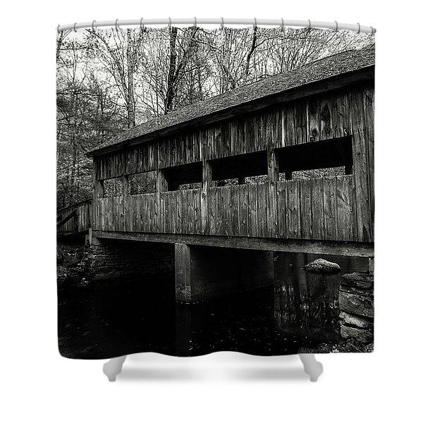 New England Covered Bridge Shower Curtain